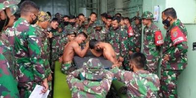 Adu Panco Hibur Prajurit Marinir