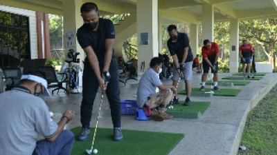 Dankormar Golf bersama Pejabat Utama Korps Marinir
