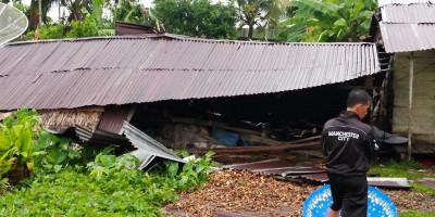 Bayi 4 Bulan Turut Jadi Korban Angin Kencang di Indragiri Hilir