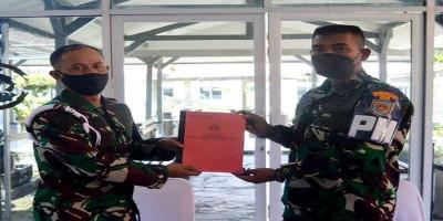 Memorandum Serah Terima Jabatan Komandan Batalyon Polisi Militer 2 Marinir Pasmar 2.