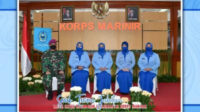 Ketua Gabungan Jalasenastri Korps Marinir Pimpin Sertijab Wakil Ketua Gabungan Jalasenastri Korps Marinir