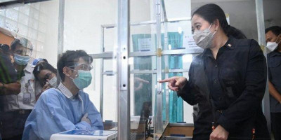 Sidak Tes Genose di Stasiun Cirebon,  Puan Temukan 2 Penumpang Positif Covid-19