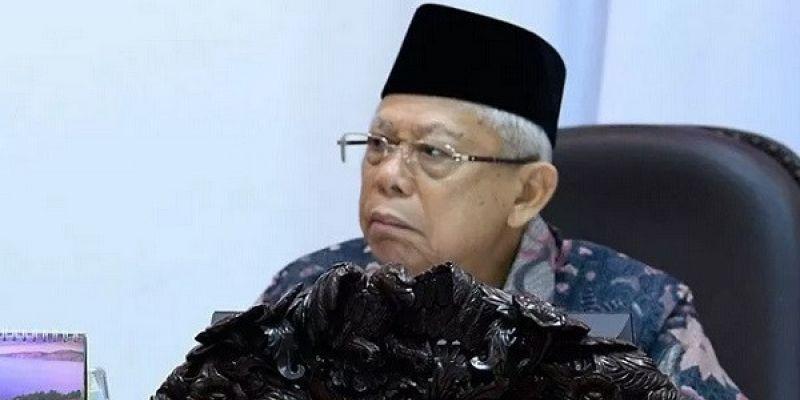 Ma'ruf Amin Salat Ied Terbatas di Rumah, Tak Ada Open House