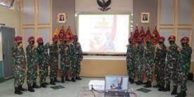 Prajurit LMRS Ikuti Upacara Hari Lahir Pancasila Tahun 2021