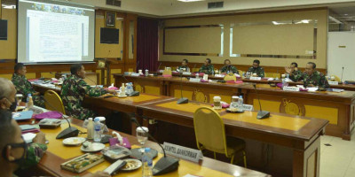 Dankormar Ikuti Vicon Rakor Renaku I 2021 TNI AL