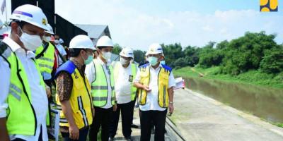 Menteri Basuki Optimis Pembangunan Pintu Air Demangan Baru Selesai Akhir Tahun 2021