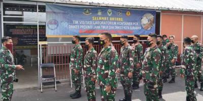 Dukung Program Pencegahan dan Penyebaran Covid -19, Prajurit Lanmar Sorong Swab Antigen Serentak