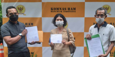 Datangi Komnas HAM, Dua Warga Adukan Eksekusi Lahan PN Jaktim