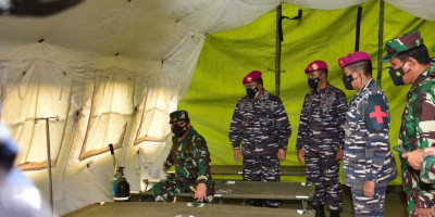 Panglima TNI Tinjau Kesiapan Rumah Sakit Lapangan Marinir TNI AL