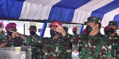 Kasal Tinjau Mess Dolos Marinir Jadi Sarana Perawatan Covid-19