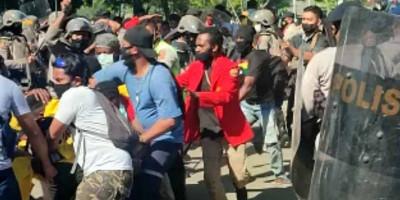 Demo Tolak Otsus Jilid 2, Mahasiswa Uncen Ditangkap Aparat Keamanan