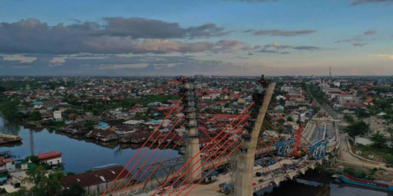 Progres Konstruksi Capai 90 Persen, Jembatan Sei Alalak Banjarmasin Akan Rampung September 2021