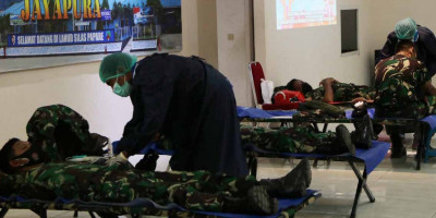 Lanud Silas Papare Tetap Semangat Donor Darah Meski Di Masa Pandemi