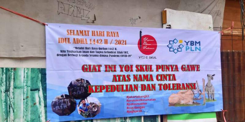 Tebar Berkah Daging, YBM PLN Sumbang Seekor Sapi Untuk YOi Skull