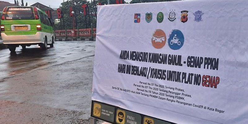 Catat, Ini 17 Check Point Ganjil Genap di Kota Bogor