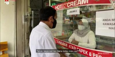 Temui Kelangkaan Obat Covid-19 Saat Sidak Jokowi Langsung Telepon Menkes, Ini yang Terjadi