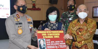 Peduli Penanganan Covid-19, Keluarga di Palembang Ini Hibahkan Bantuan Rp2 Triliun untuk Pemerintah