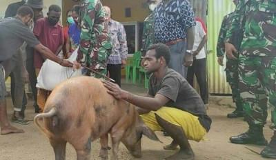 Pria Korban Penganiayaan Oknum TNI AU Dapat Hadiah Seekor Babi
