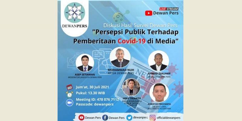Hasil Survei: Kualitas Pemberitaan Covid-19 di Media Massa Dinilai Positif
