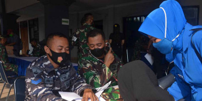 Sudah 4 Hari, Korps Marinir TNI AL Gelar Vaksinasi Ke 2, Animo Masyarakat Cukup Tinggi