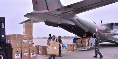 Kasus Aktif Meningkat, TNI AU Diperintahkan Kirim 1.384 Ton Alkes ke Pangkalpinang