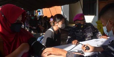Lanmar Jakarta Wadahi Kegiatan Serbuan Vaksin Untuk Keluarga Besar TNI AL Dan Masyarakat