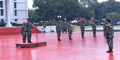 Panglima TNI Terima Laporan Korps Kenaikan Pangkat 52 Perwira Tinggi