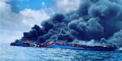 KM Bukit Sumber Poleang Terbakar Hingga Hangus Terbelah Dua, Penumpang dan ABK Langsung Loncak ke Laut