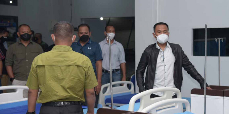 Jelang Peresmian, Dankormar Tinjau Kesiapan Rs Darurat Covid 19 Karang Pucung Surabaya