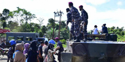 Kerahkan Material Tempur, Korps Marinir TNI AL Serbu Kampung Klafdalim Distrik Moisegen Sorong