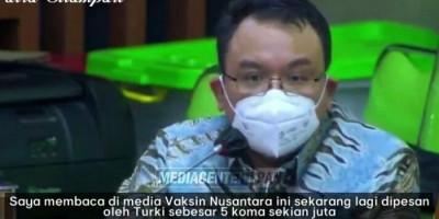 Marah dan Sebut Kepala BPOM Meremehkan Vaksin Nusantara, Saleh Daulay: Dipesan Turki Tapi Ditolak di Indonesia