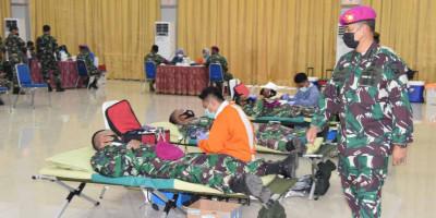 Bantu Atasi Covid 19, Ratusan Prajurit Dan PNS Korps Marinir Donor Darah Dan Plasma Konvalesen