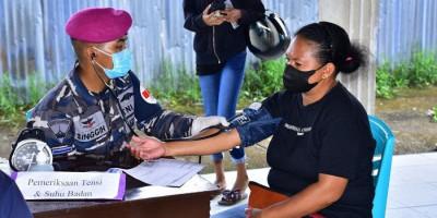 Tiada Henti, Korps Marinir TNI AL Terus Berupaya Perangi Covid-19