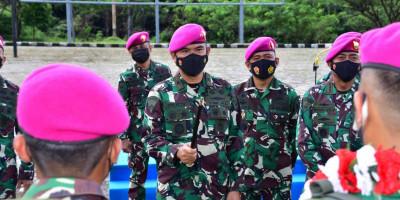 Komandan Pasmar 3 Sambut Kedatangan Satgasmar Pam Pulau Terluar XXIV