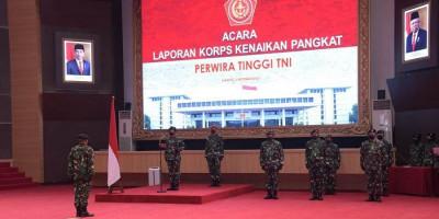 Panglima TNI Terima Laporan Korps Kenaikan Pangkat 25 Perwira Tinggi