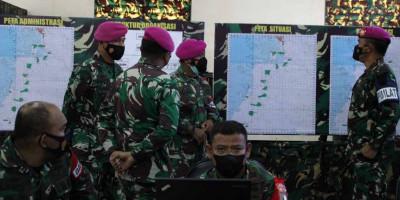 Komandan Pasmar 3 Buka Geladi Posko Latihan Satuan Lanjutan II Aspek Darat Triwulan III Tahun 2021