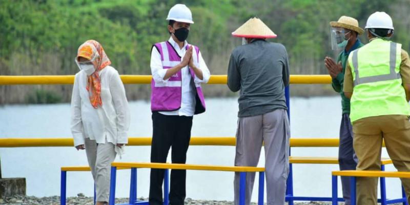 Presiden Jokowi Resmikan Bendungan Paselloreng dan Bendung Gilireng Kabupaten Wajo