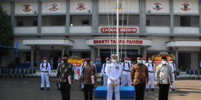 Pangkalan Marinir Jakarta Gelar Upacara HUT TNI AL Ke-76 Tahun 2021