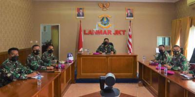 Danlanmar Jakarta Ikuti Briefing Melalui Vicon