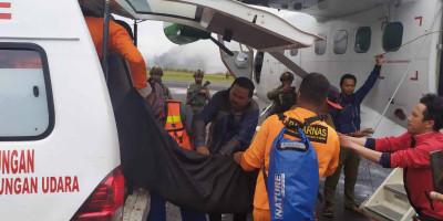 Jenazah Korban Pesawat Rimba Air PK-OTW Tiba di Timika