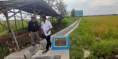 Kementerian PUPR Bangun Jaringan Irigasi Tersier Cileunya Melalui Program Padat Karya