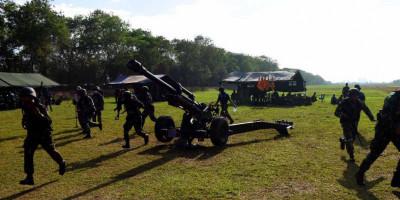 Danmenart 2 Mar Gelar Lomba Menembak Pertahanan Dekat di Daerah Steeling Antar Baterai Menart 2 Mar