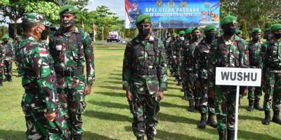 Danrem 174 Merauke Pimpin Apel Gelar Pasukan Pengamanan PON XX Tahun 2021 Di Merauke