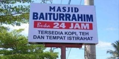 Masjid Baiturrahim Buka 24 Jam, Walikota Helmi: Insya Allah Kota Bengkulu Makmur