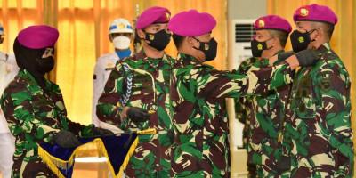 Dankormar Pimpin Sertijab Danpasmar 2 Di Markas Korps Marinir
