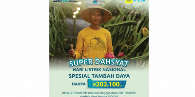 PLN Luncurkan Promo Super Dahsyat Tambah Daya Hanya Rp 202.100