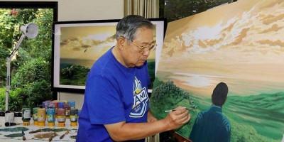 Kala SBY Melukis Dirinya Sendiri, Sebut Sedang Tafakur dan Kontemplasi