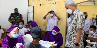 Pastikan Ada Percepatan Vaksinasi, Ganjar Pranowo Bergerak ke Grobogan