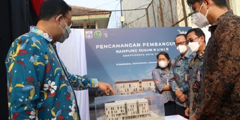 Anies Baswedan Bangun Kembali Kampung Susun Kunir yang Digusur Ahok