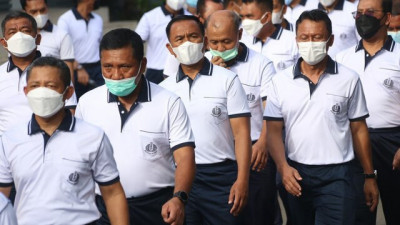 Jaga Fisik Dan Imunitas Tubuh, Dankormar Hadiri Olahraga Bersama Kasal
